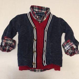 Baby sweater Ralph's Lauren button down sweater 12